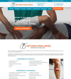 Chiropractor Web Design Miami WordPress