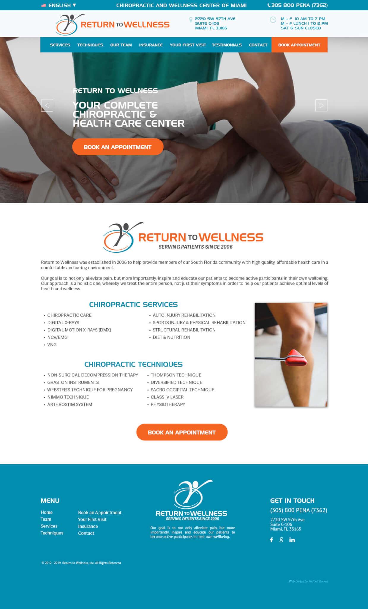 Chiropractor Web Design Miami WordPress