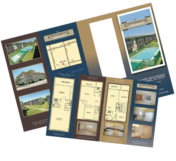 Real Estate Brochure Z-Fold Brochure Design Trifold Brochure Design Bi-fold Brochure Custom Design Miami Graphic Design
