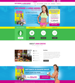 Eat More To Lose More WordPress Design Fitness Web Sites