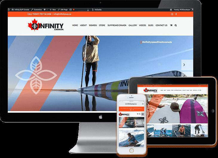 Infinity SUP Canada - WordPress web site
