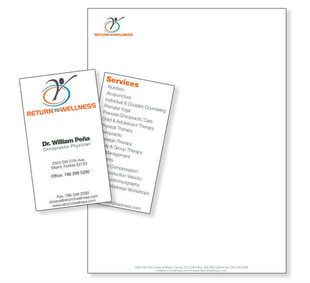 Medical business card design Stationery design