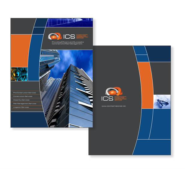 Pocket Folder Design Miami Graphic Design Miami Brochure Design Construction Company Developer Business Card Design