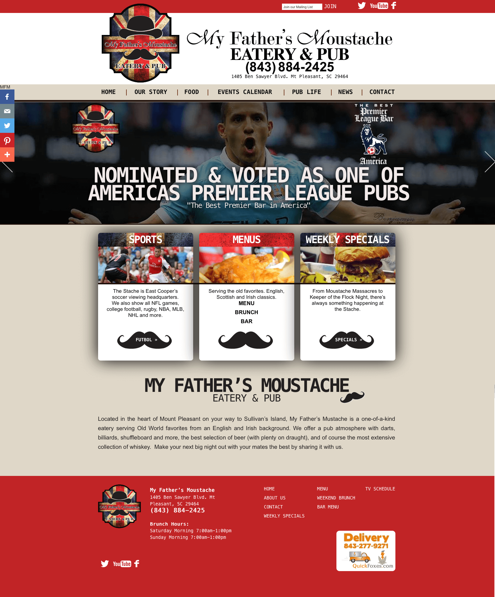WordPress Restaurant Web Site Design
