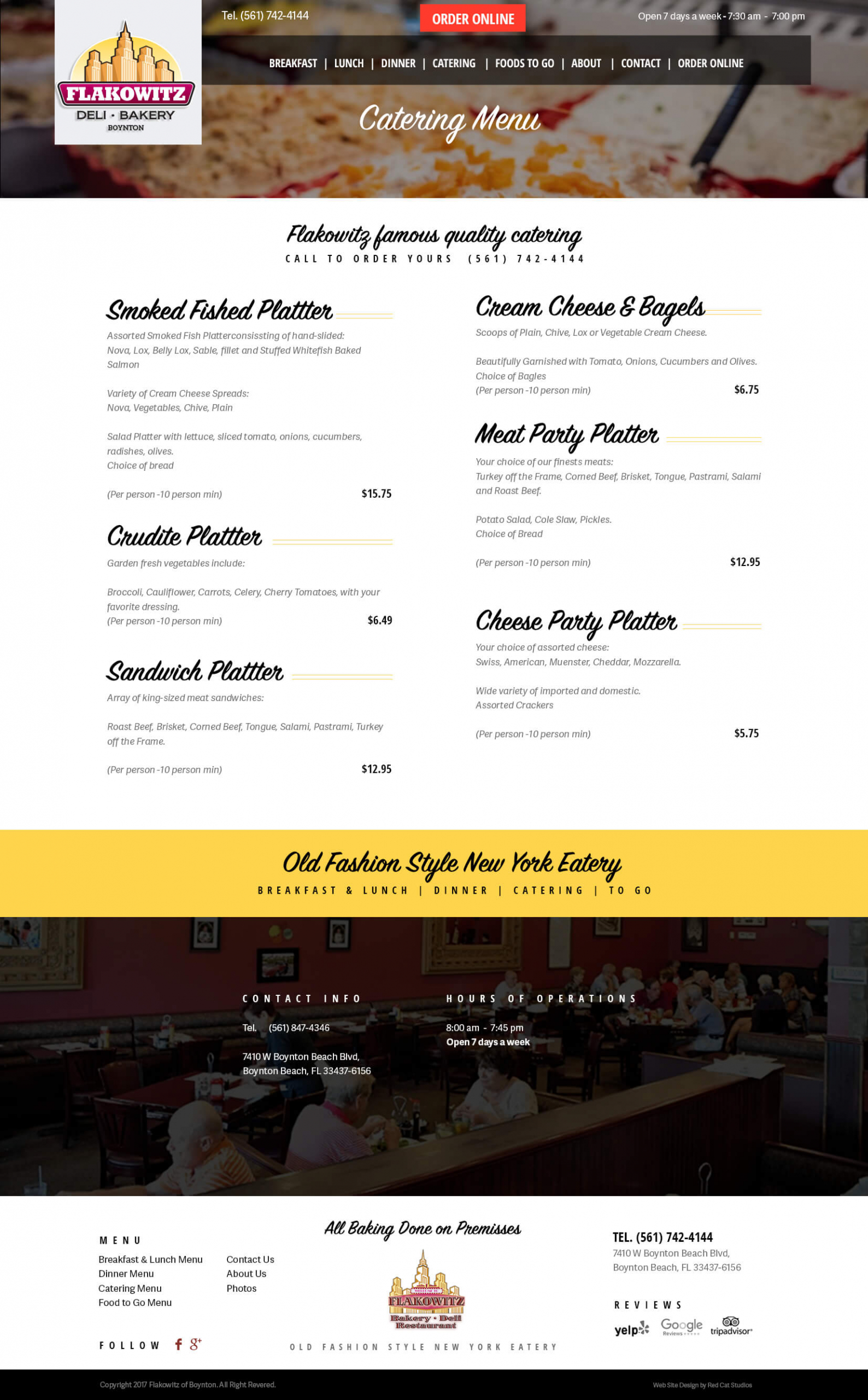 WordPress Restaurant Web Design Miami