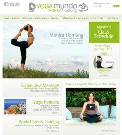 WordPress Yoga Web Site Design Heal Code Widget Integration MindBody Gym Studio Web Sites