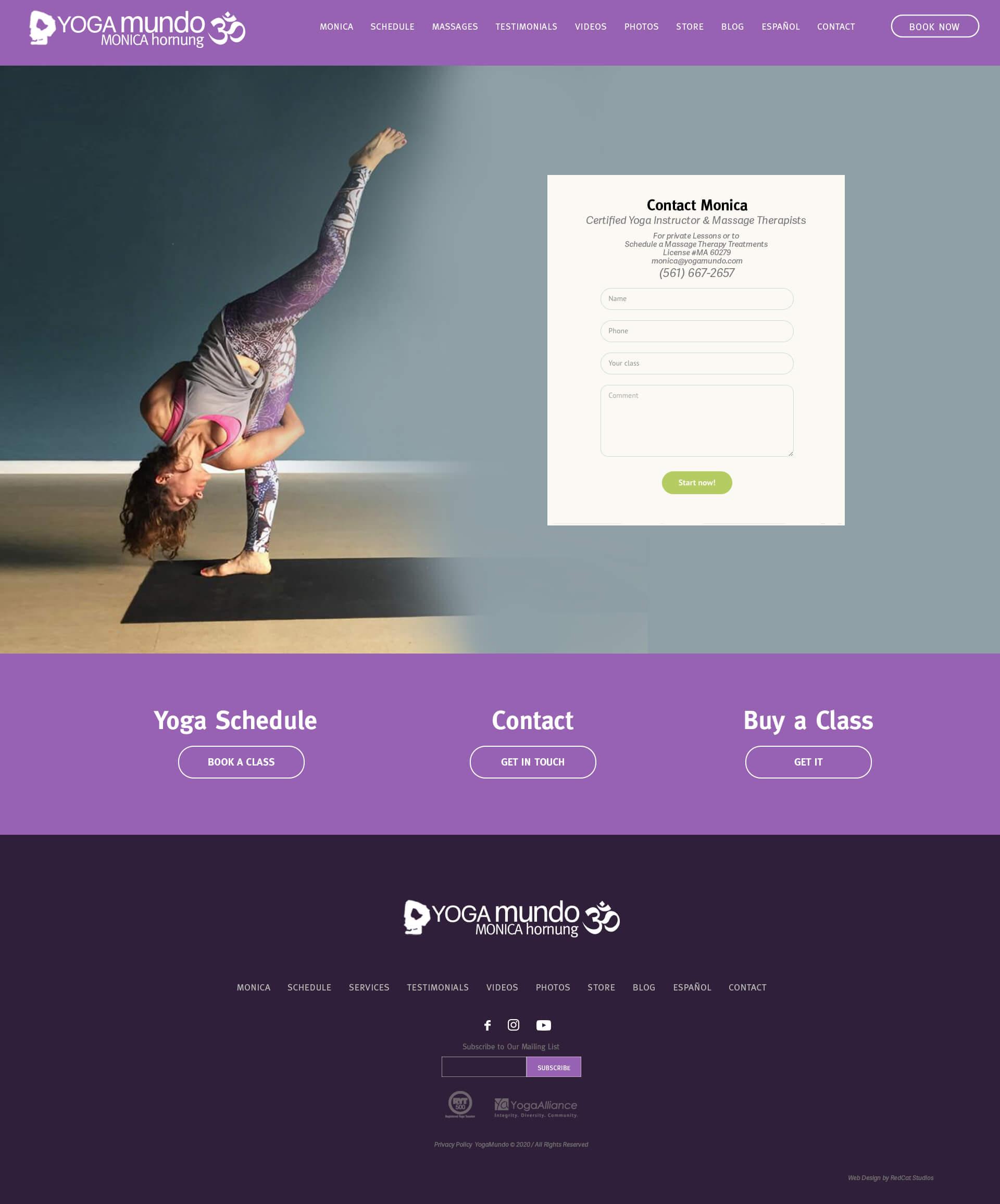 Yoga WordPress Web Re-design