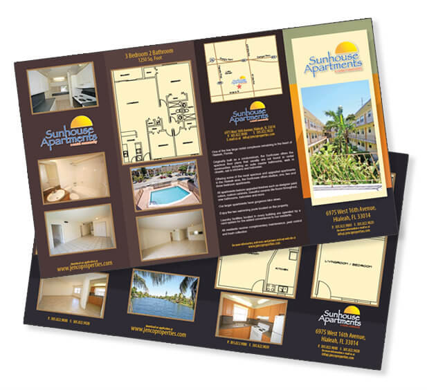 Brochure design Real Estate Company Miami Trifold Brochure Design Z-Fold Brochure Design Miami