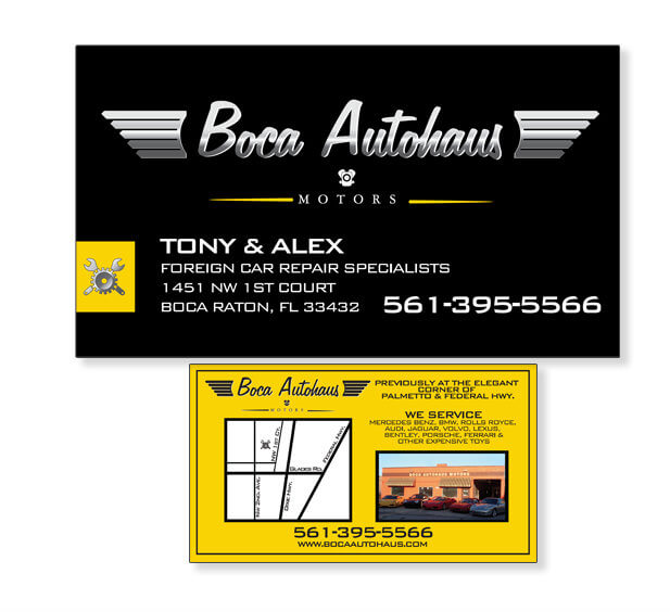 business card design boca raton miami