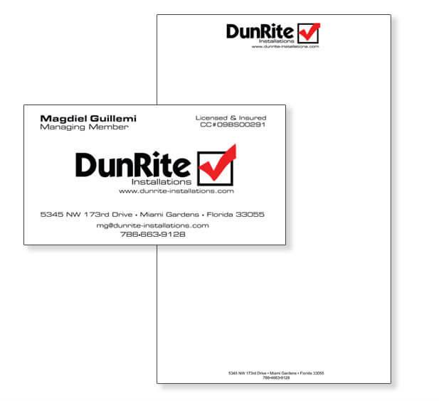 business card design construction company miami