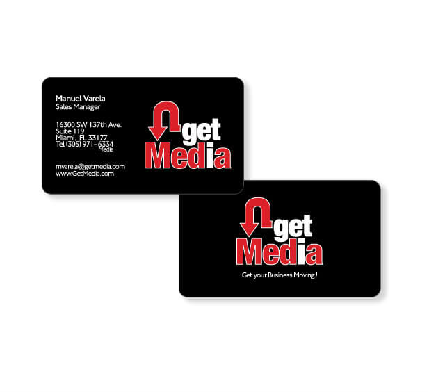 business card design round cornes