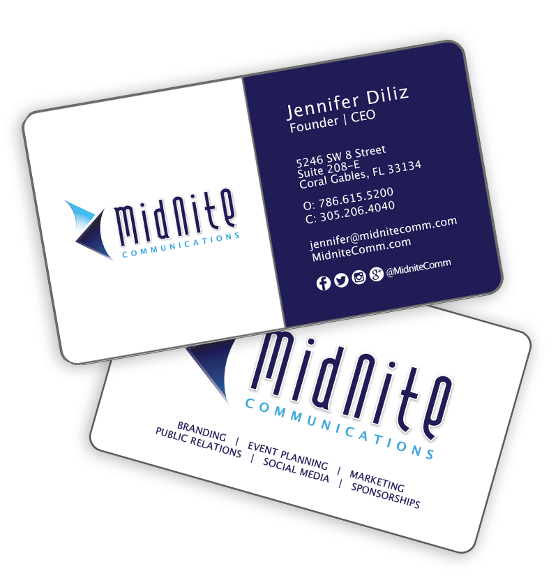 Business Card Design Miami Small Business Cards Round Corners Business Cards Miami