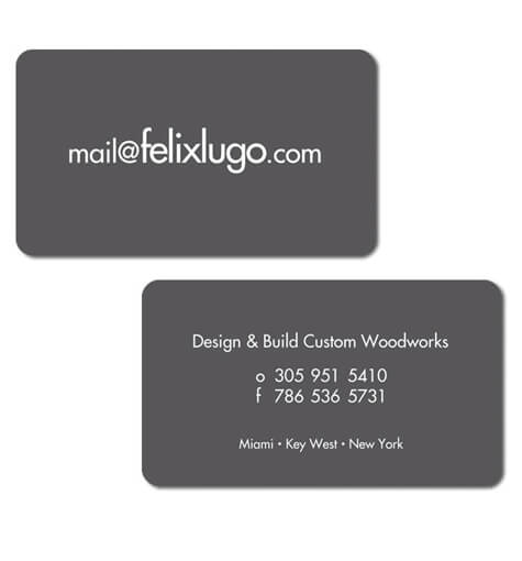 Business Card Design Construction Company Interior Designer Business Card Design Miami New York