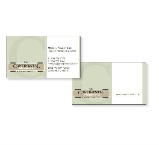 miami real estate miami business card design
