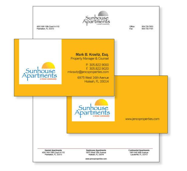 real estate business card design miami
