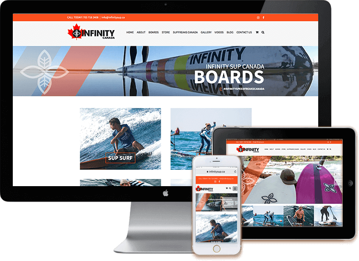 Infinity SUP Canada - WordPress web site