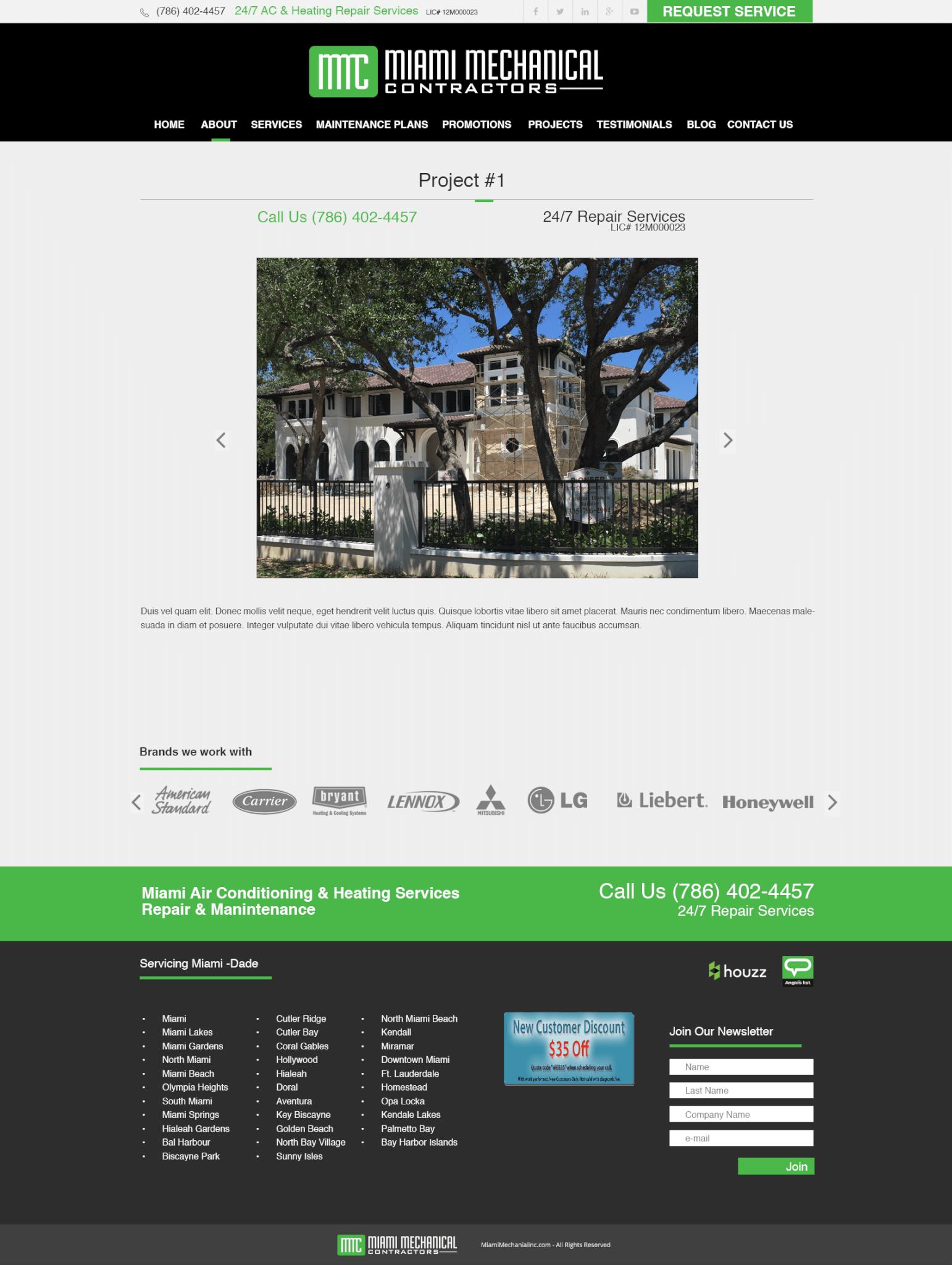 WordPress Web Sites Miami Responsive Web Site Design WP theme integration