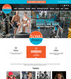 WordPress Miami Fitness Web Sites SoMi Fitness
