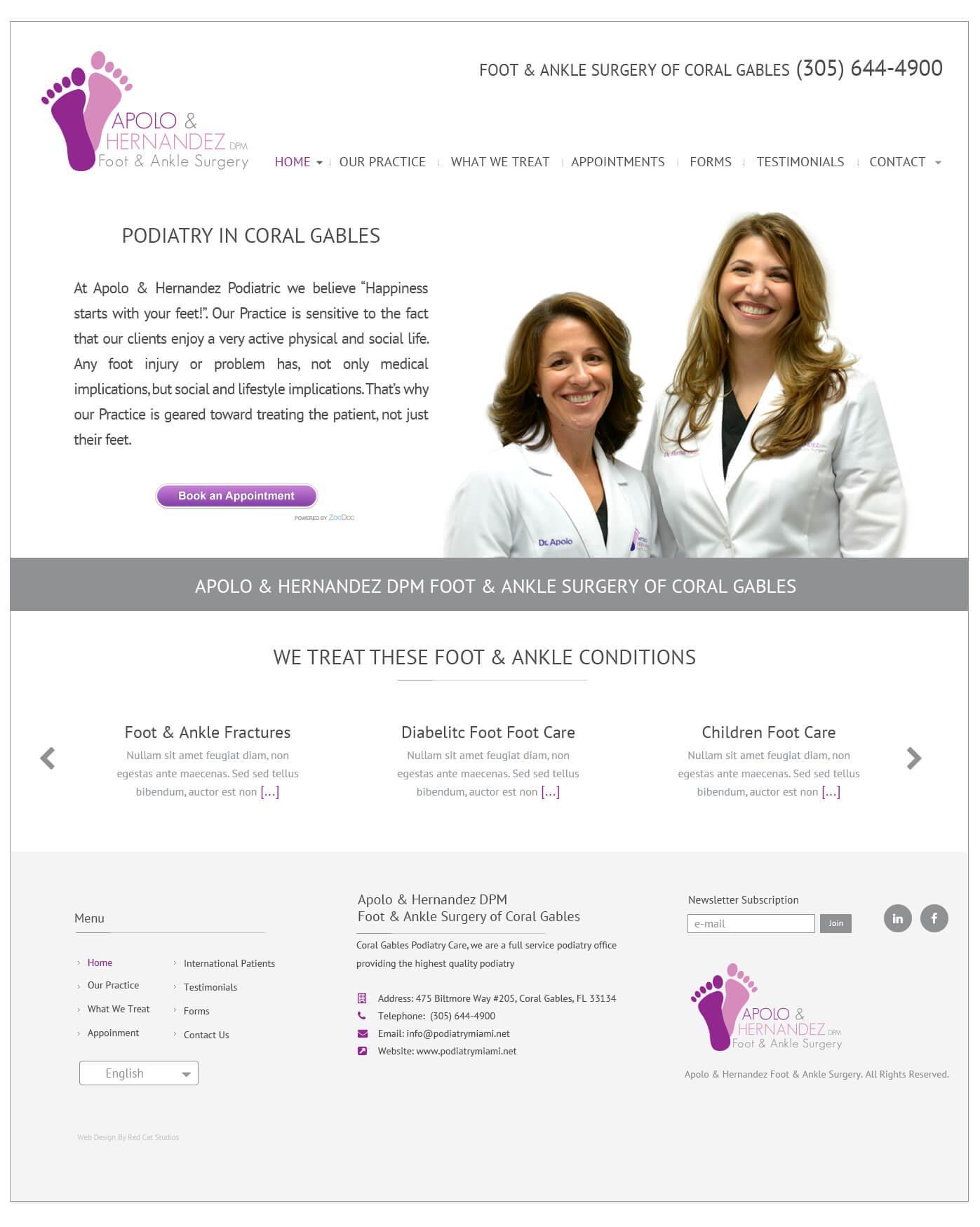 Medical Web Site WordPress Themes Miami