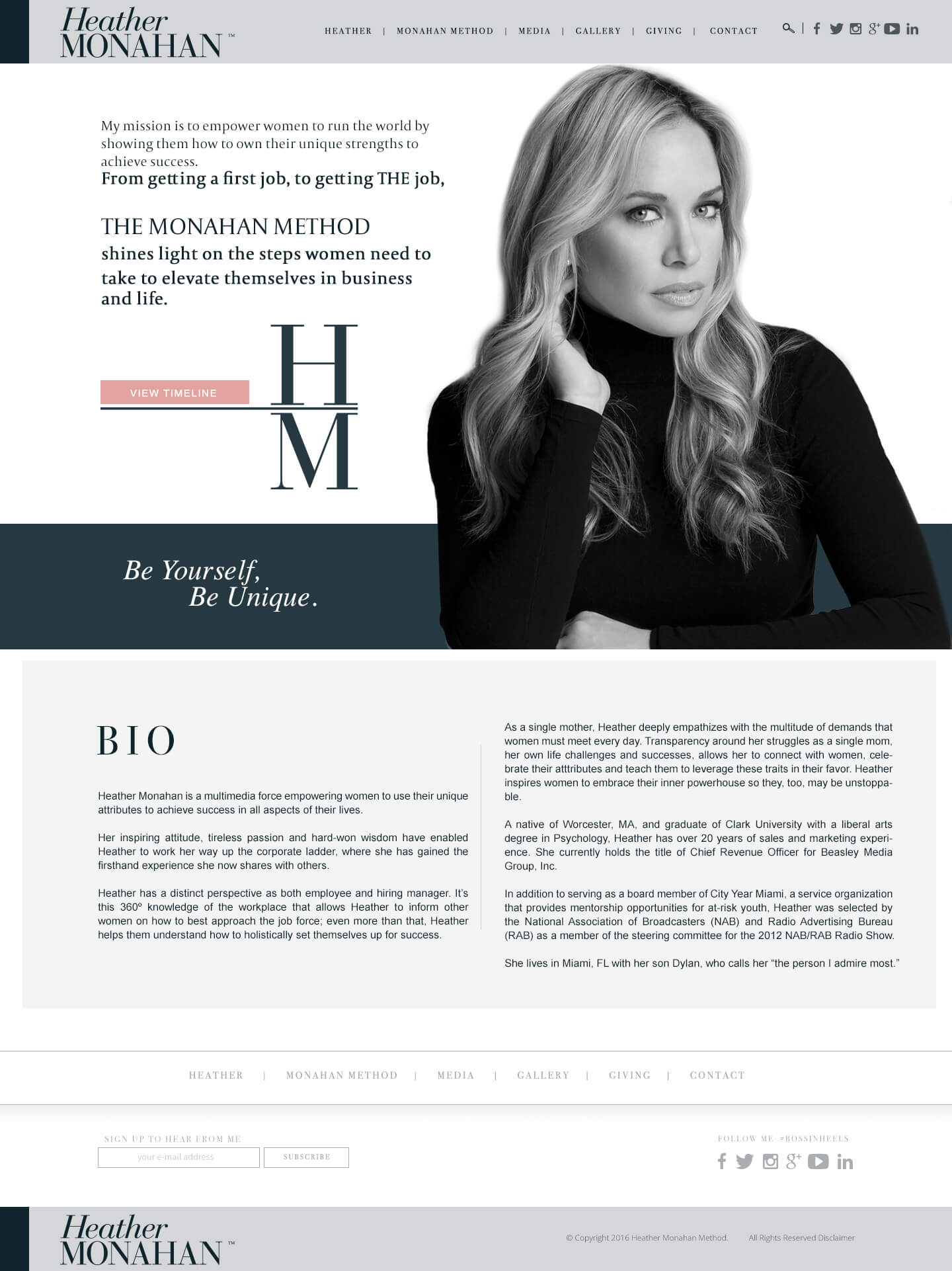 wordpress web site heather monahan