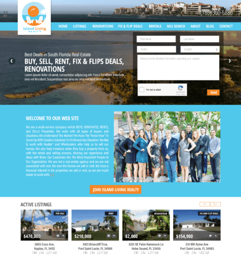 Island Living Realty web site