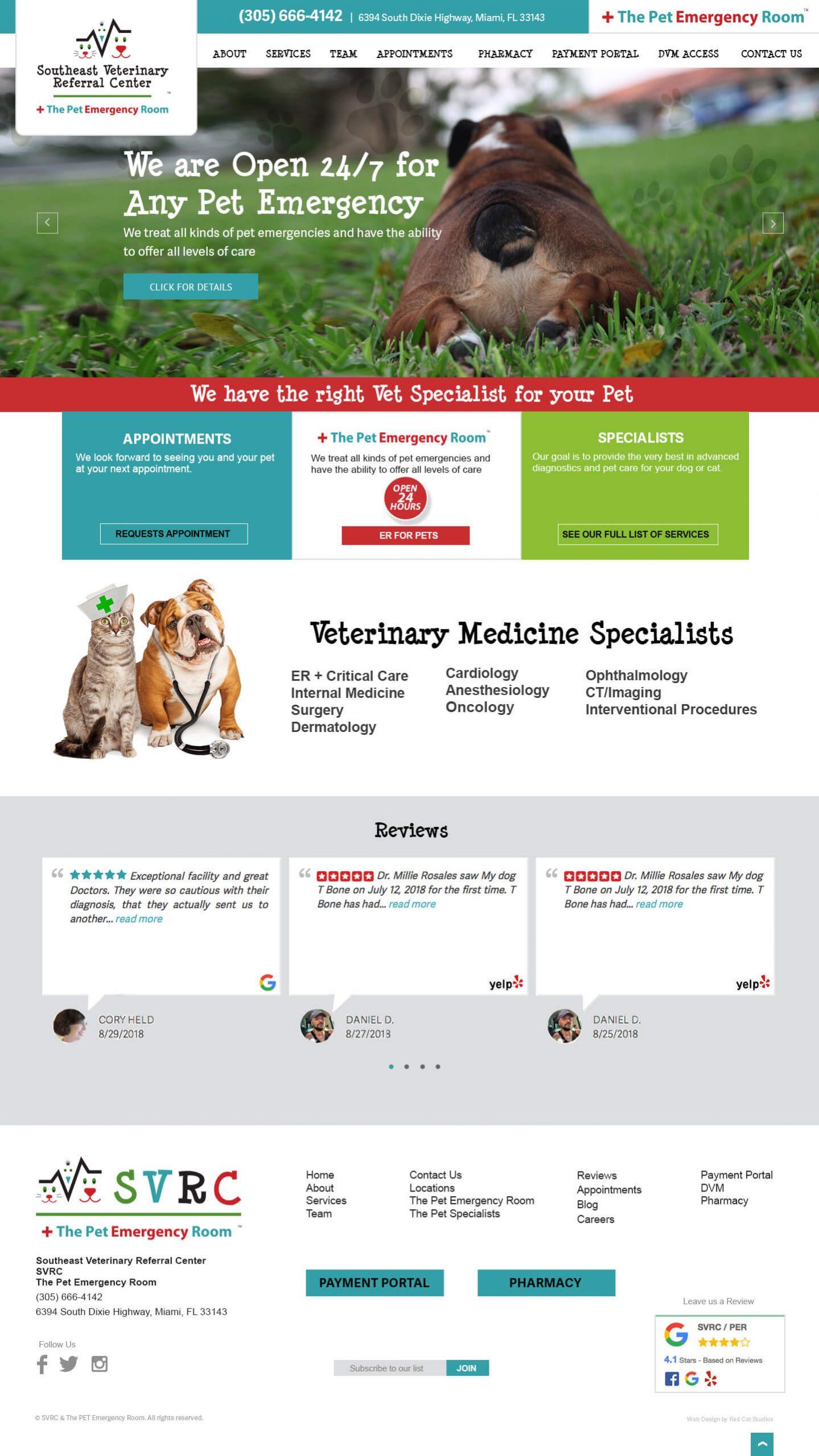 Veterinarian Web Design Miami WordPress.