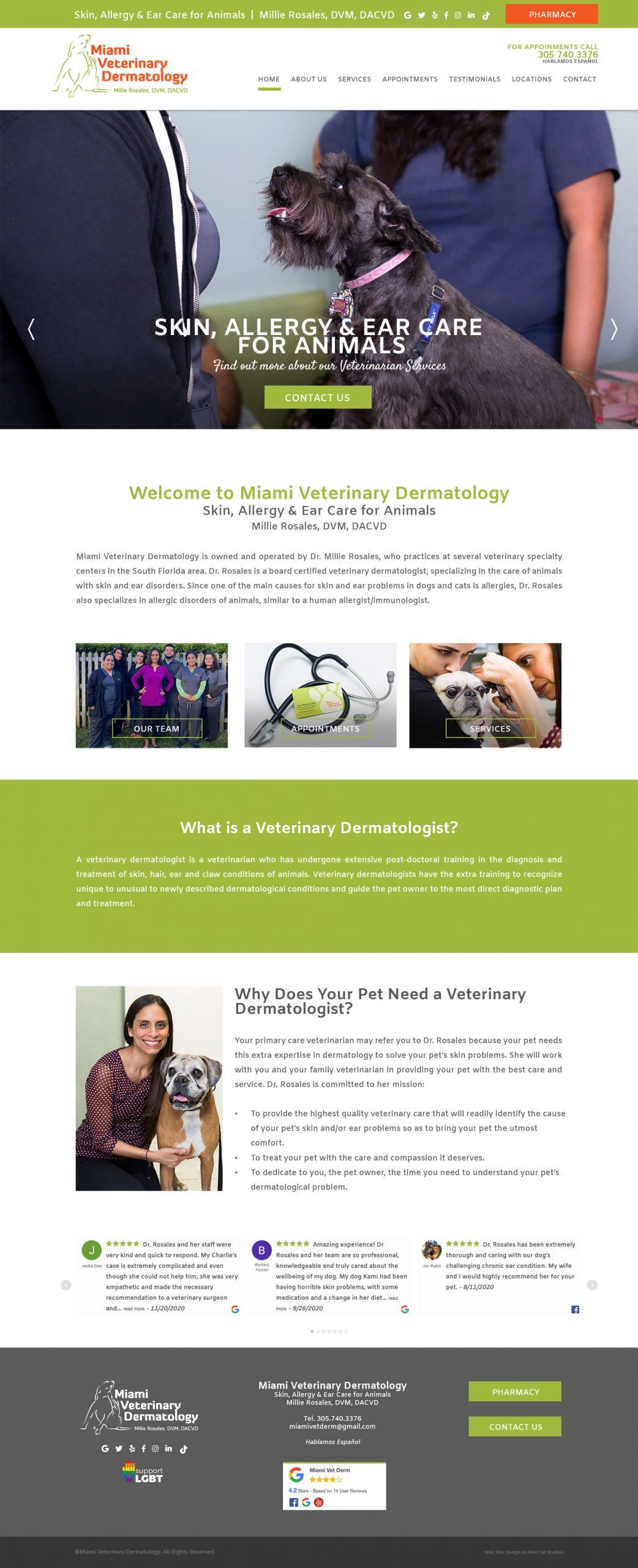 Veterinary Web Design Miami