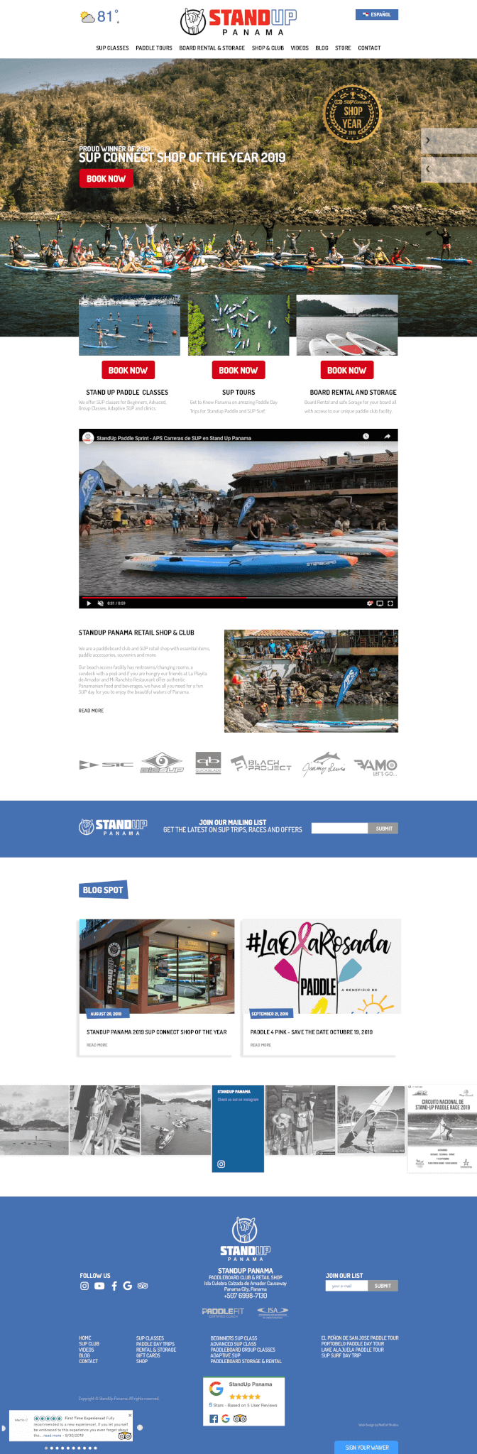 Tour and Activity Operators web site design