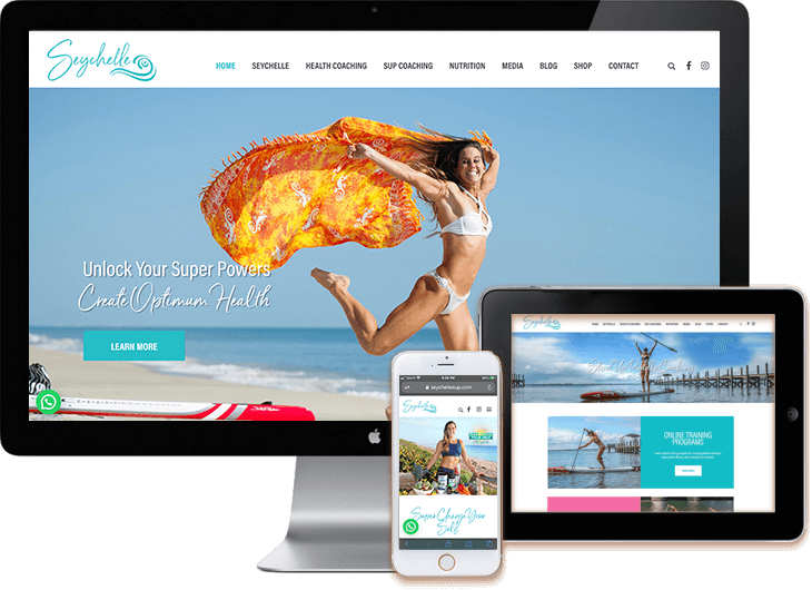 Fitness Wellness WordPress Web Design