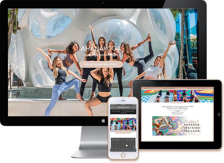 Yoga WordPress Web Design Miami