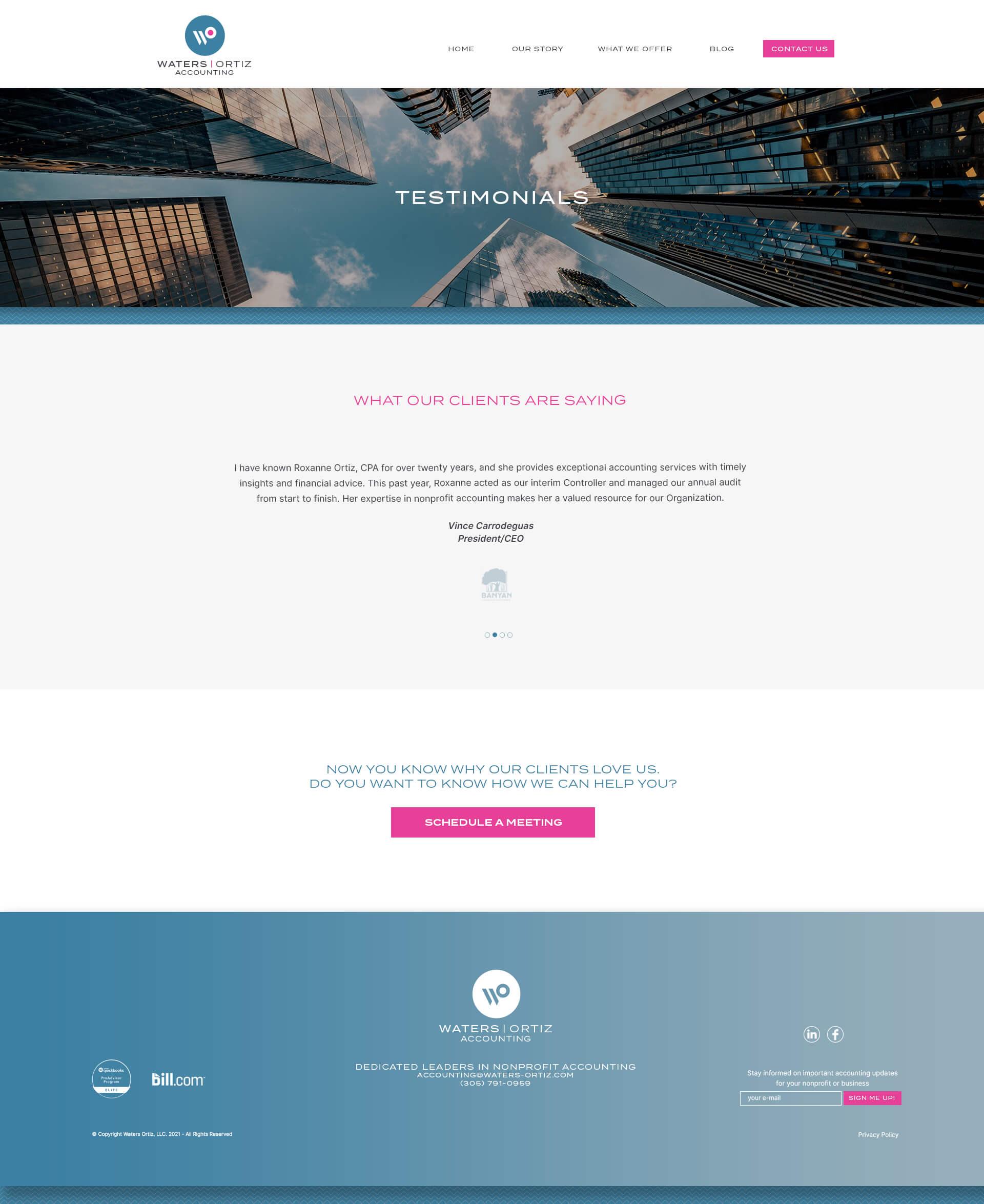 Accounting Company Web Design